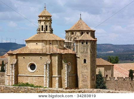 The Monastery Of Santa Maria De Poblet,spain