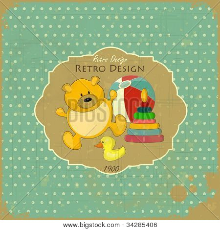 Retro Design Baby Card