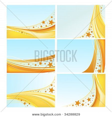 Sea backgrounds vector set
