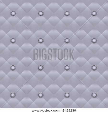 Seamless Silver Quilted Buttoned Wallpaper