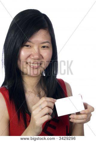 Handing A Blankcard