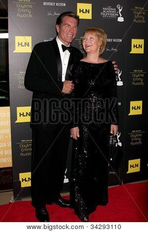 LOS ANGELES - JUN 23:  Peter Bergman, Erika Slezak arrives at the 2012 Daytime Emmy Awards at Beverly Hilton Hotel on June 23, 2012 in Beverly Hills, CA