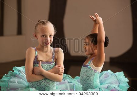 Pretty Young Ballet Students