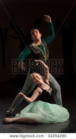 Two People In Ballet Performance