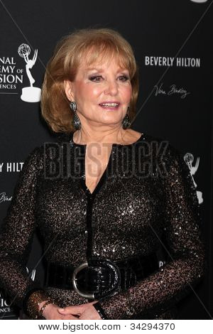 LOS ANGELES - JUN 23:  Barbara Walters in the Press Room of the 2012 Daytime Emmy Awards at Beverly Hilton Hotel on June 23, 2012 in Beverly Hills, CA
