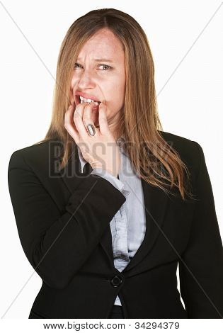 Nervous Professional Woman
