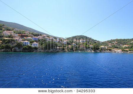 Greek fishing village on Ithaca