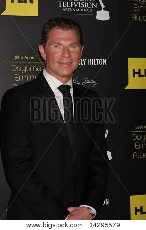 LOS ANGELES - JUN 23:  Bobby Flay arrives at the 2012 Daytime Emmy Awards at Beverly Hilton Hotel on June 23, 2012 in Beverly Hills, CA