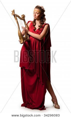 Girl In A Red Tunic