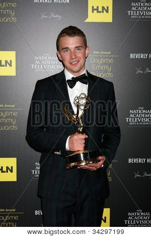 LOS ANGELES - JUN 23:  Chandler Massey in the Press Room of the 2012 Daytime Emmy Awards at Beverly Hilton Hotel on June 23, 2012 in Beverly Hills, CA