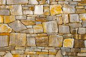 Wall Of Stones As A Texture. Stone Wall. Wall Of Stones. Wall Of A Medieval Fortress With Mainly Whi poster