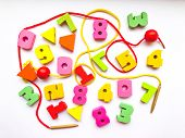 Colorful Bright Educational Toys In The Form Of Lacing For Children.lacing With Stringing Beads,educ poster