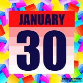 January 30 Icon. For Planning Important Day. Banner For Holidays And Special Days. Thirtieth Of Janu poster
