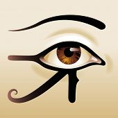 stock photo of all seeing eye  - Eye of Horus - JPG