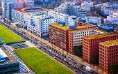 Aerial View To Modern Apartment Residential Building Architecture Potsdamer Platz Reflex poster