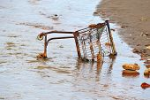 Dumped shopping trolley.
