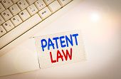 Handwriting Text Writing Patent Law. Concept Meaning Deals With An Inventor S Is Exclusive Right To  poster