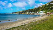 Picturesque View Over Karaka Bay And Scorching Bay In Wellington, North Island, New Zealand poster