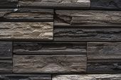 Natural Stone Bricks As A Decoration On A Wall. Natural Stone Wall Texture. The Walls Are Made Of St poster