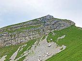 Alpine Mountain Diethelm Above The Wagital Or Waegital Valley And Alpine Lake Wagitalersee (waegital poster