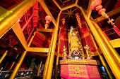 Kuan In, The Bodhisattva Of Compassion And Mercy, Shrine At Tiger Cave Temple In Krabi Town, Thailan poster
