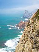 Portugal, Cabo Da Roca, The Western Cape Roca Of Europe, White Clouds Over The Atlantic Ocean, Ocean poster