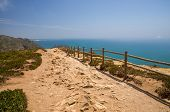 Portugal, Cabo Da Roca, The Western Cape Roca Of Europe,  Hiking Trails On The Cape Roca, Ocean View poster