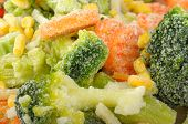 picture of frozen food  - background of frozen vegetables - JPG