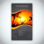 Summer Time Brochure Template | EPS10 Vector Design