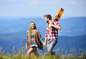 Hiking Romance. Fresh Air And Pure Feelings. Romantic Walk. Romantic Song. Love Inspires Them. Beaut poster