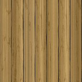 Beige Realistic Planked Wooden Planks Fence Seamless 3d Design Texture Background poster