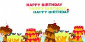 Happy Birthday Vector Design With Typography And Birthday Element For Celebration, Background, Templ poster