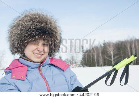 Woman Tourist Skier4