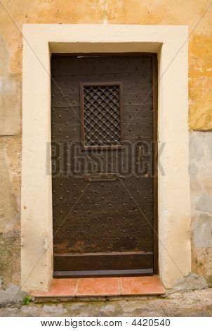 Medieval Iron Door In France