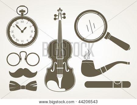 Accesorios detectives retro