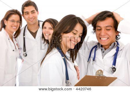 Very Happy Group Of Doctors