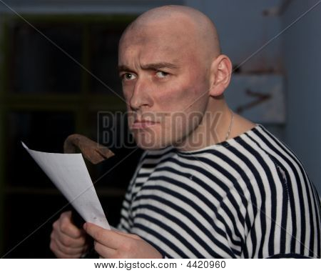 Worker With Document