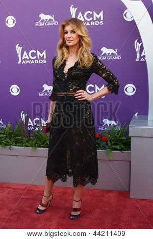 LAS VEGAS - MAR 7:  Faith Hill arrives at the 2013 Academy of Country Music Awards at the MGM Grand Garden Arena on March 7, 2013 in Las Vegas, NV