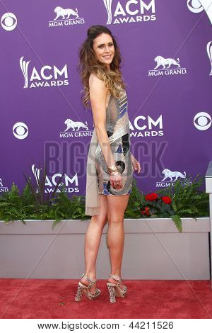 LAS VEGAS - MAR 7:  Kelleigh Bannen arrives at the 2013 Academy of Country Music Awards at the MGM Grand Garden Arena on March 7, 2013 in Las Vegas, NV