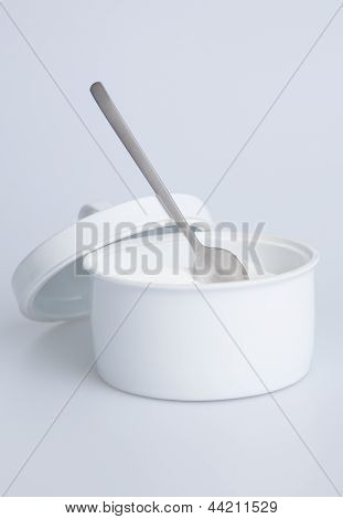 Sugar container with spoon