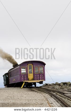 Purple Cog Train On Mount Washington