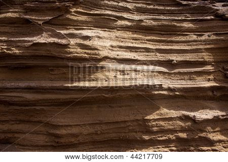 Lanzarote stone mountain cross section strata texture