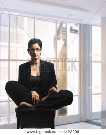 Relaxing Businesswoman
