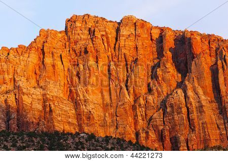 Red Rock At Sunset