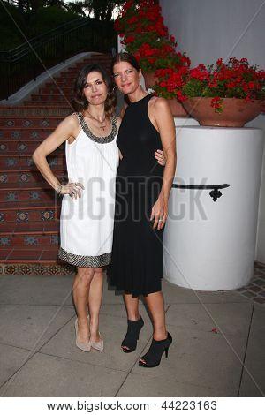 LOS ANGELES - APR 4:  Finola Hughes, Michelle Stafford attends the gala fundraiser for the romantic comedy,