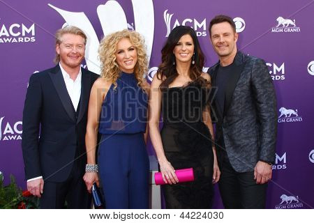 LAS VEGAS - MAR 7:  Little Big Town arrives at the 2013 Academy of Country Music Awards at the MGM Grand Garden Arena on March 7, 2013 in Las Vegas, NV
