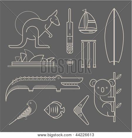 Australien-Symbole