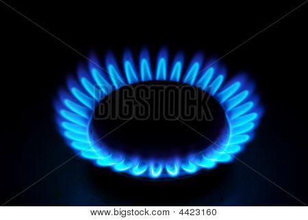 Flammen des Gases