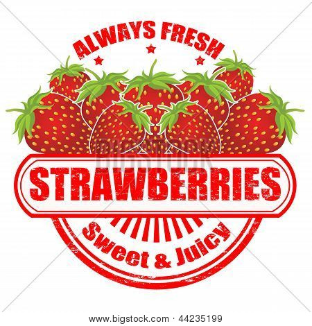 Strawberries Stamp