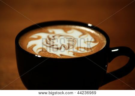 Hot Coffee AKA Latte Art photograhed in a POP ART style. The perfect image for all your Coffee Art related needs.